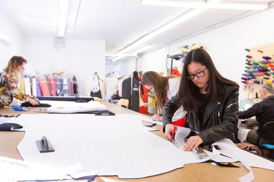 Teamwork In Greta Constantine S Production Process Industryconnections Seneca Fashion